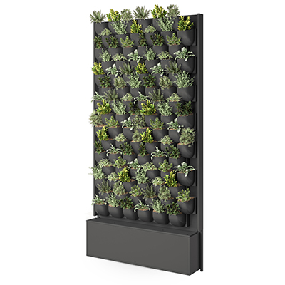 HUSHOFFICE GREEN WALL M 1110 X 220 X 2210MM GREY