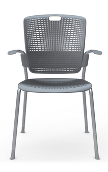 HUMANSCALE CHAIR CINTO ARMS GLIDES SIL/GRY 3PK