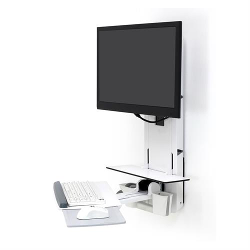 ERGOTRON PATIENT ROOM VL18 STS WM WHITE