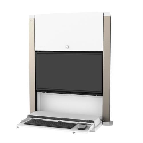 ERGOTRON CAREFIT 24IN SIT-STAND ENCLOSURE WHITE