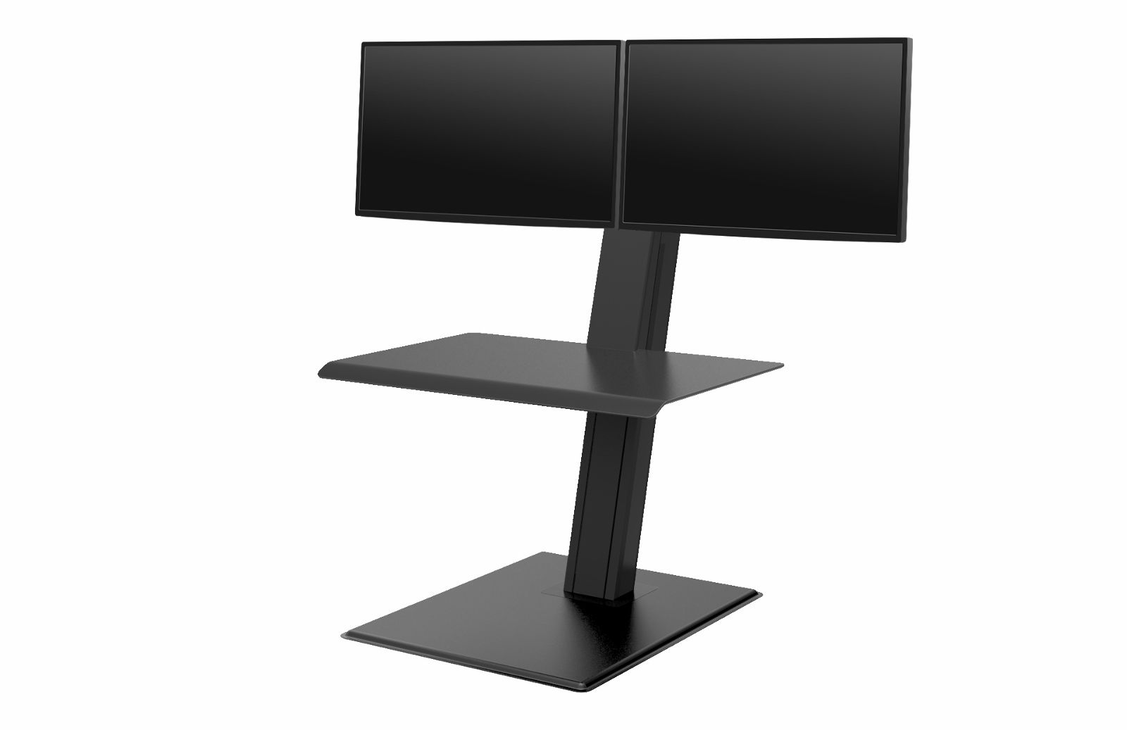 "Humanscale Quickstand ECO Sit/Stand Workstation for Dual Monitors (2 x 27"" monitors), Freestanding in Black"