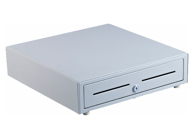 VPOS CASH DRAWER EC410 4 NOTE 8 COIN 24V BEIGE/WHI