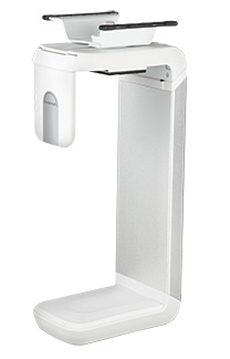 HUMANSCALE CPU HOLDER 200 W/SLIDING TRACK WHI