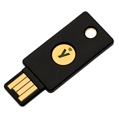 YUBICO YUBIKEY 2 FACTOR AUTHENTICATION V5 NEAR FIELD COMMUNICATION