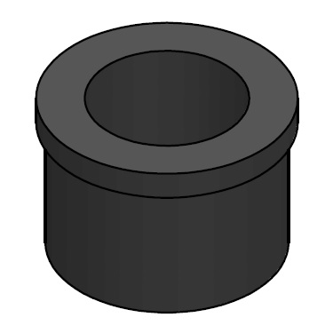 SPACEPOLE ADAPTER FOR CDU 28MM BLK