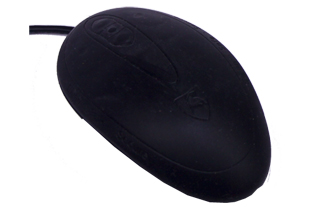 SEAL SHIELD MOUSE IP68 SILICONE USB BLK