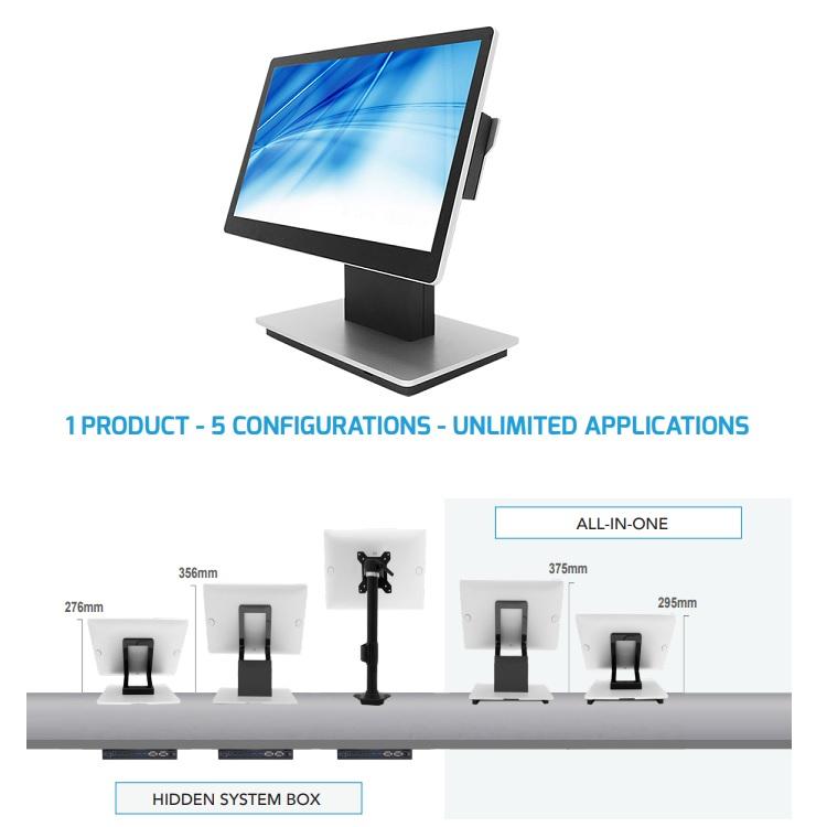 """Element CA850 PoS Terminal, Intel i3 Processor, 8GB RAM, 128GB Storage, 15.6"""" Display, Grey/Silver, Windows 10"""