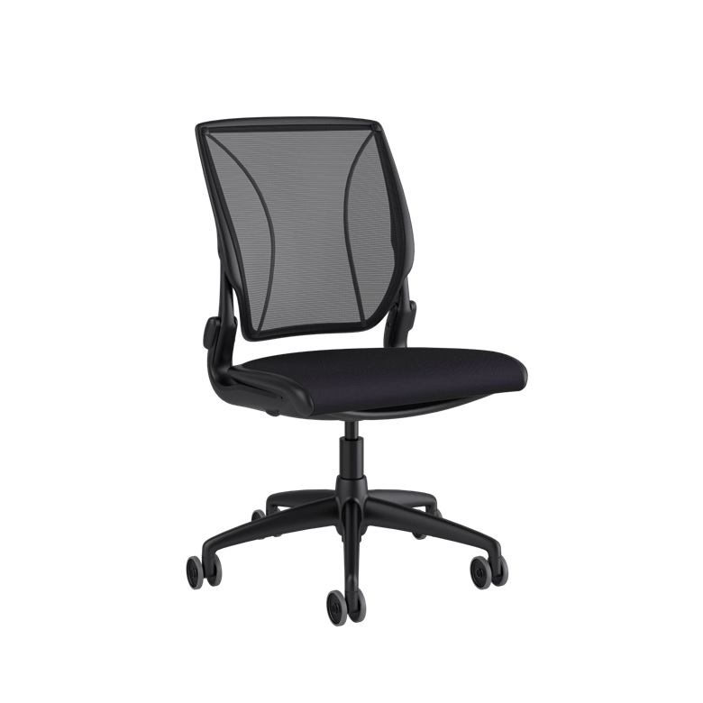 HUMANSCALE CHAIR WORLD ARMLESS MESH OXYGEN BLACK