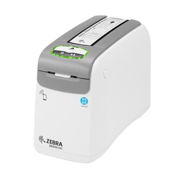 Zebra Wristband Healthcare Printer ZD510-HC, 300DPI, Direct Thermal, USB, Ethernet, Bluetooth, Wi-Fi