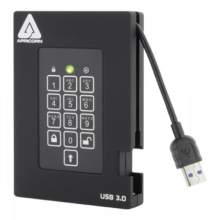 APRICORN SECURE STORAGE AEGIS FORTRESS 500GB FIPS