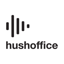HUSHOFFICE POD MEET-S WOODBINEWOOL SILV CLEAR WHI