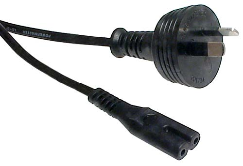 CABLE POWER CORD FIG OF 8 2M BLK
