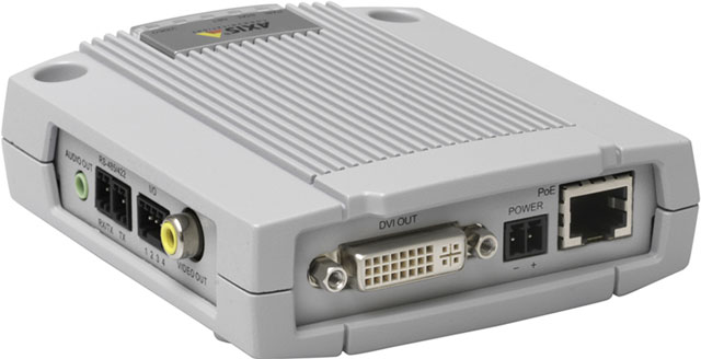AXIS DECODER P7701 DVI & VIDEO/AUDIO OUT POE RS485