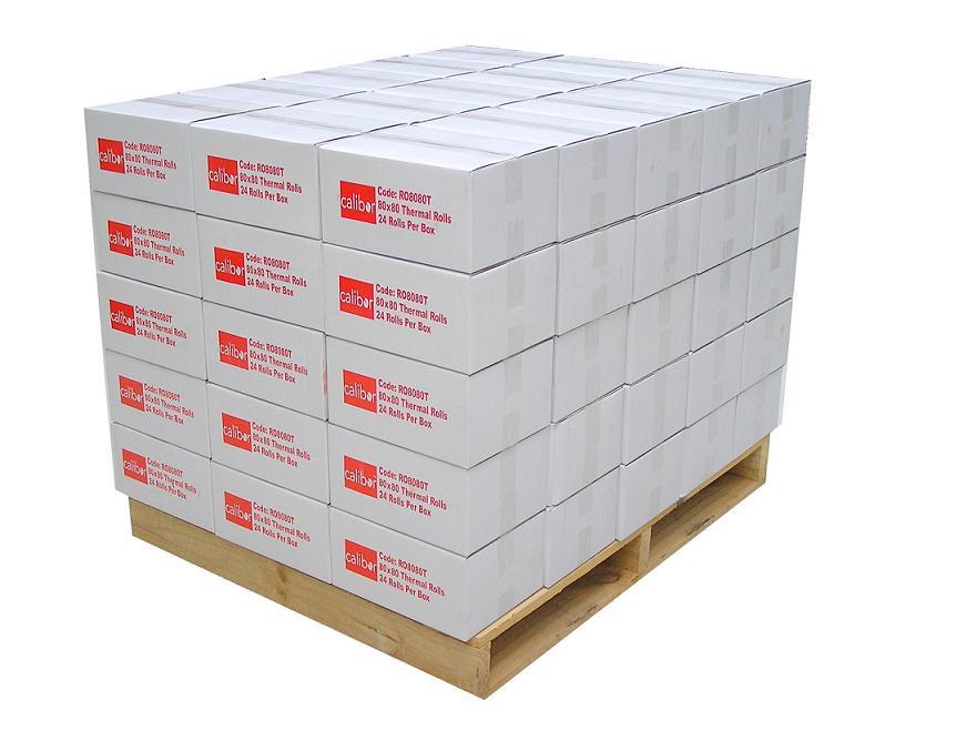 BOM CALIBOR THERMAL PAPER 80X80 80 BOXES/PALLET